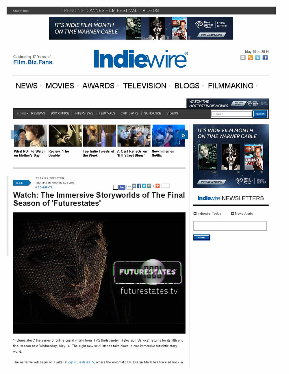 2014-05-08 Indiewire Future States